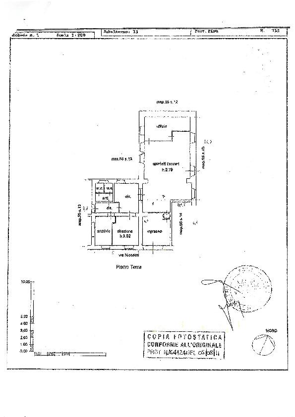 Planimetria 1/1 per rif. D1639
